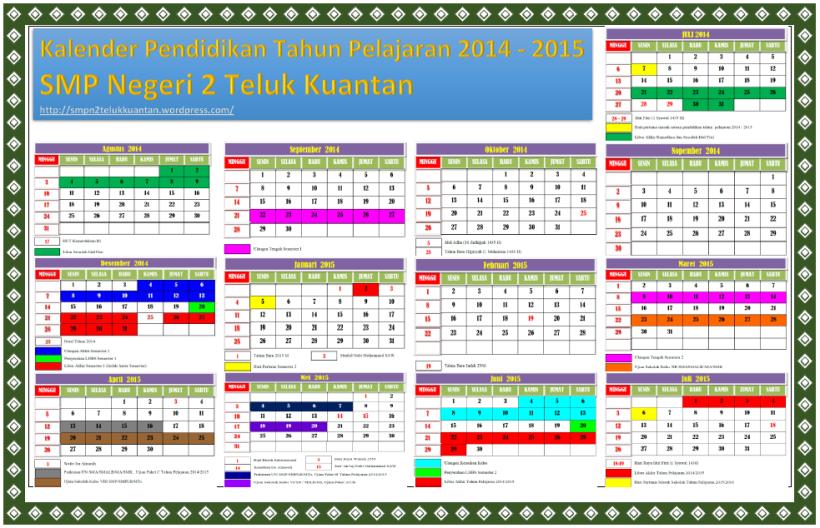 Kalender Pendidikan TP. 2014-2015 SMPN2TLK